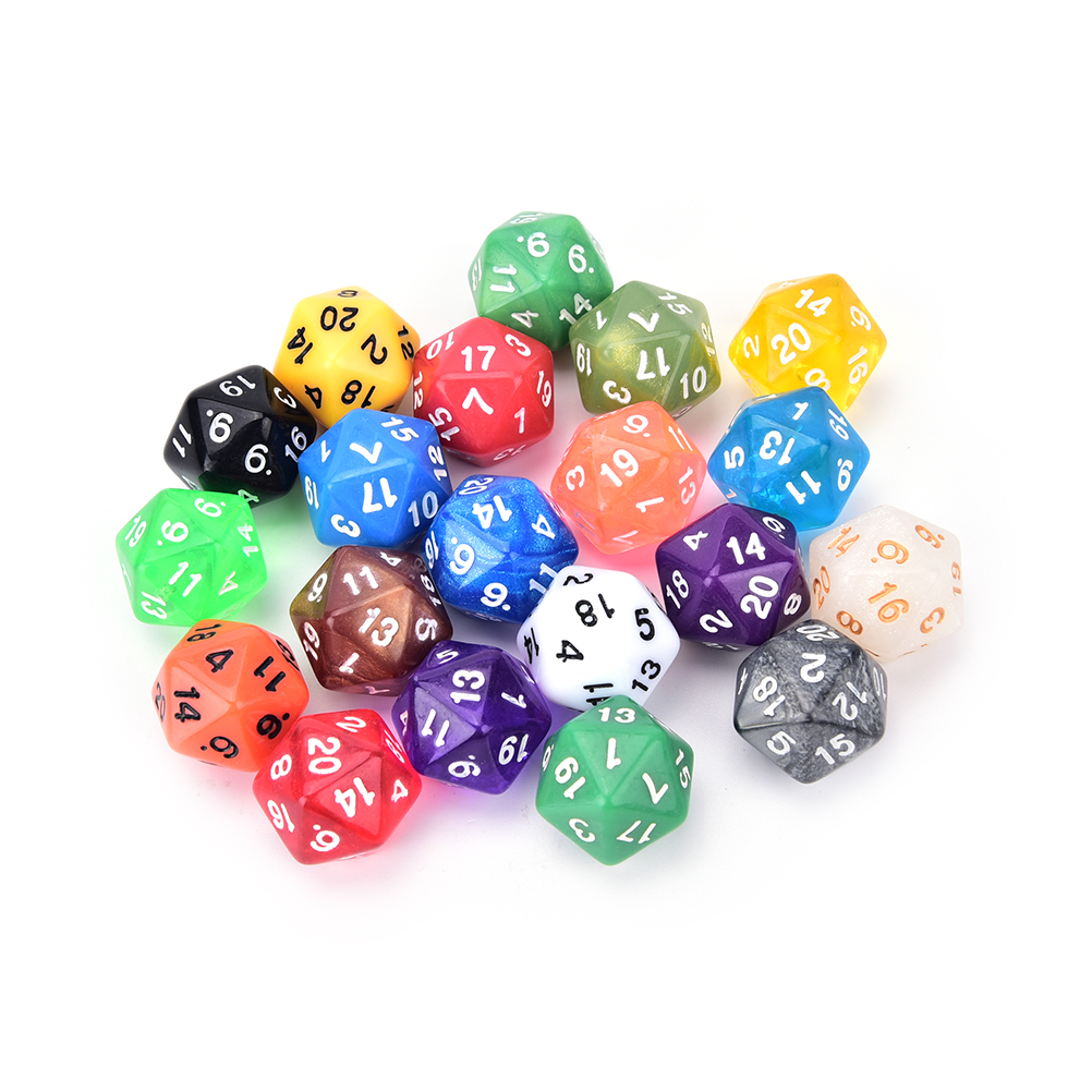 1PC High Quality 20 Side Digital Dice Number 1-20 For Rpg Game DICE Colorful D20 Dice Set Opaque Effect,Dungeons And Dragon