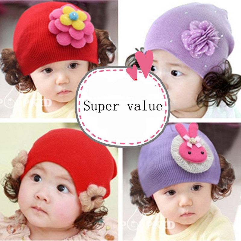 Fashion New Hat Set Baby Boys Girls Knitted kids Hats & Caps baby skullies 1-24months baby beanies boy girl ears cute baby cap newborn kids skullies caps children baby boys girls soft toddler cute cap new sale