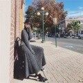 Trajes traje de temperamento de La Manera de dos piezas de Cultivar la moralidad femenina plisada falda larga + long sleeve knit sweater