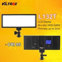 Viltrox l132t bi-color led luz de vídeo display lcd ultra fino & DSLR Estúdio regulável Luz Painel de Lâmpada para Câmera DV Camcorder