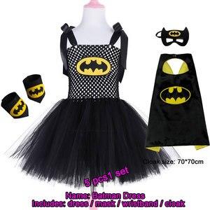 Image 5 - 2019 New Cute Super Hero Ballet Skirt Costume Hot Pink Batgirl Tutu Skirt For Girls