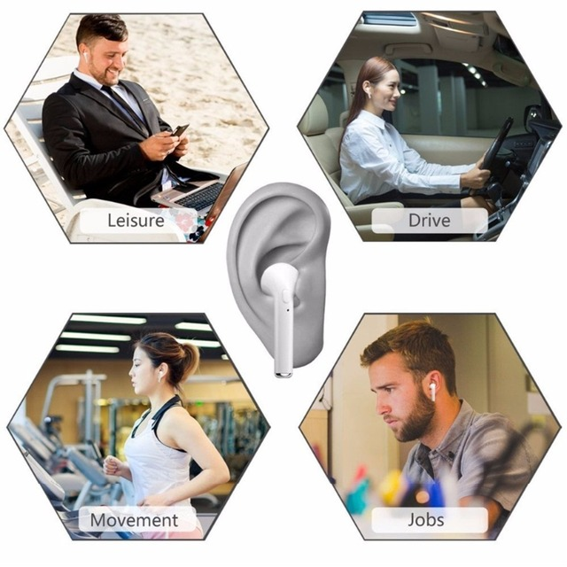 I7S TWS Bluetooth Earbuds Twins Earphone Mic In-ear Wireless headphone With Charging Box headset For Iphone X Samsung S8 S9 Note