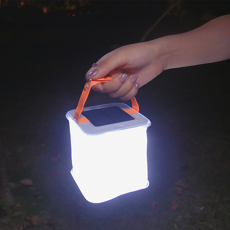 Solar Powered light folding inflatable light Waterproof Emergency Outdoor  airbag lighting 2-in-1 Phone Charger kit