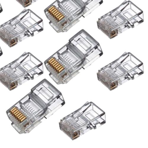 yoc rj45 connector network cable cat5 crimp ends plug x 100