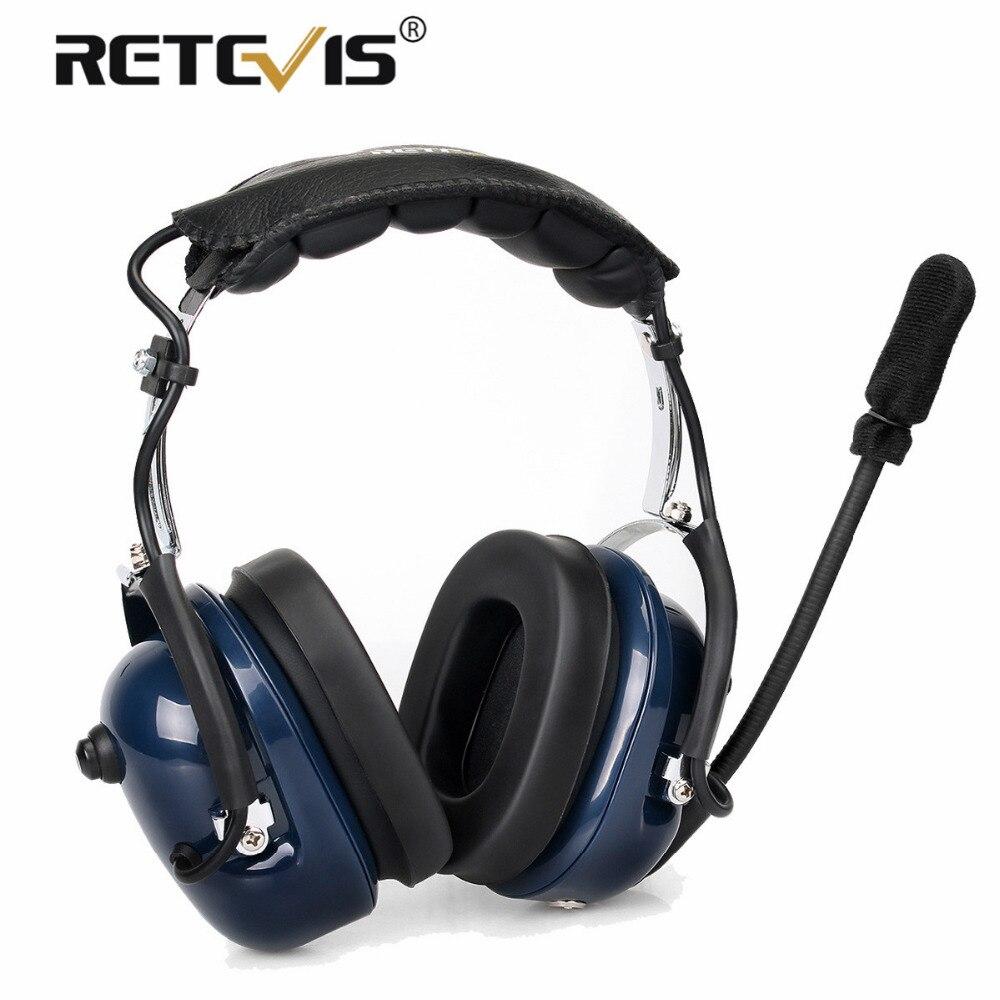 Retevis EH050K Bruit Réduction de L'aviation Microphone Casque Talkie Walkie Écouteur VOX Réglage Du Volume Doigt PTT pour Kenwwod