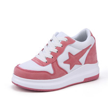 5cm/8cm Height Increasing 2017 Summer Shoes Women's Casual Shoes Sport Fashion Walking Shoes for Women Swing Wedges Shoes