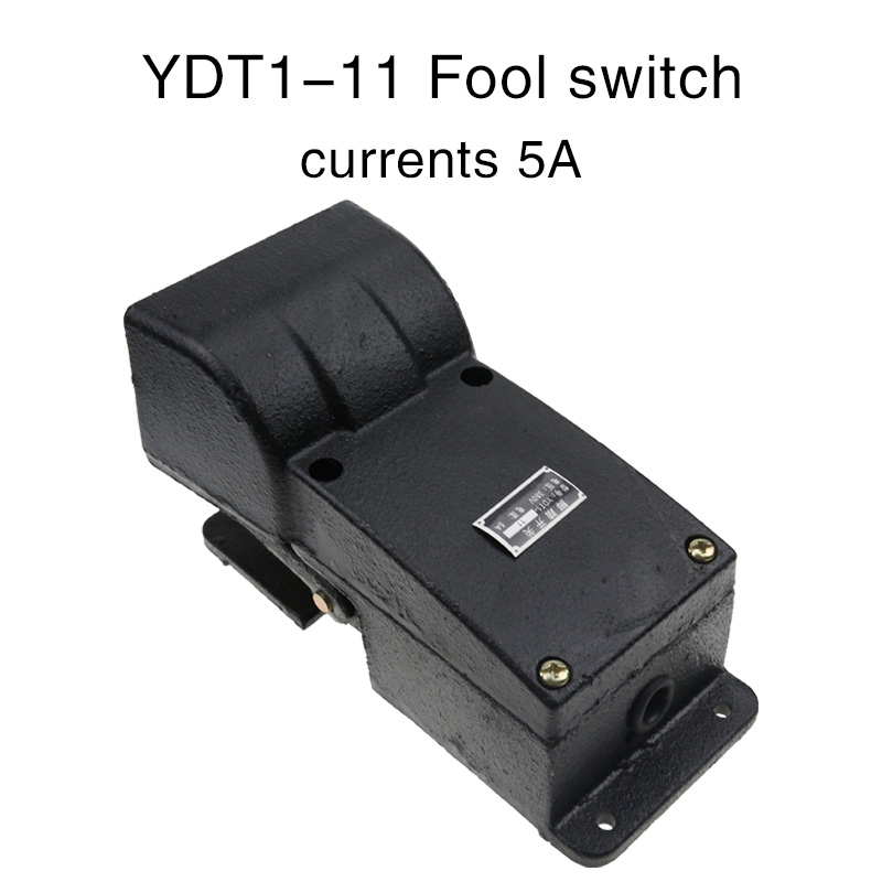 Treadle Foot switch ydt1 11 machine special single phase pedal control cast aluminum alloy anti slip belt protective cover.