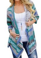 Hot Women Long Sleeve Cardigan Loose Outwear Autumn Chothing Cotton Outfit Casual