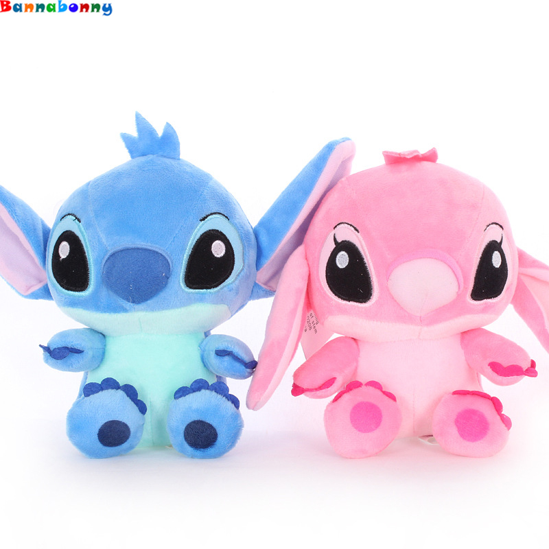 2PCS/Lot Kawaii Stitch Plush Doll Toys Anime Lilo and Stitch 20CM Stich Plush Toys for Kids Birthday gift 20cm kt cat doll hello kitty plush doll birthday gift wholesale plush toys free shipping