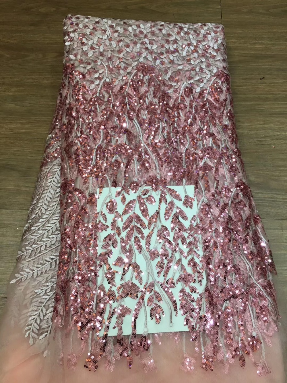 2019 New style French tulle lace fabric African sequins lace fabric high quality african lace fabric