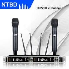 Performance de Palco Rap NTBD TC2200 Verdadeira Diversidade Microfone Sem Fio Profissional KTV Casa Tela Grande Recepção de Longa Distância