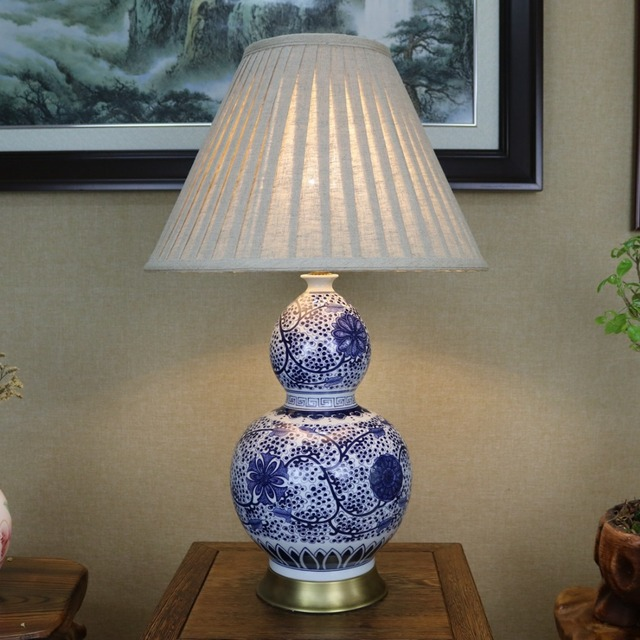 Vintage chinese porcelain ceramic table lamp bedroom living room vintage chinese porcelain ceramic table lamp bedroom living room wedding table lamp jingdezhen creative bedside table aloadofball Choice Image