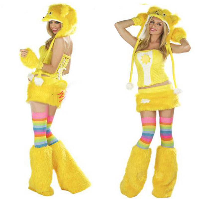 OKAYOASIS Sexy Women Holloween Cosplay Bear Costume  Lady Fashion Party Animal Costumes