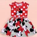 Roupas Infantil Meninas Girls Minnie Minie Mouse Dresses Summer 2015 Fantasia Infant Baby Girl Clothing Roupa Infantil