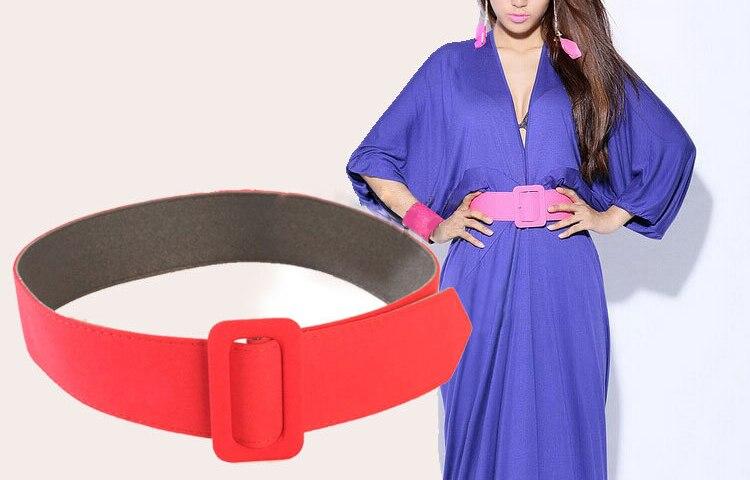 2017 Fashion Designer Wide Fabric Stretch Cinch Women's Webbing Belts Metal Buckle Chain Waist Belts For Female Dress Fur Coat