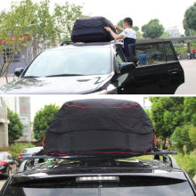 BBQFUKA 592 Cuft Car Waterproof Large Capacity Roof Carrier Cargo Storage Bag Fit For SUV With Luggage Rack