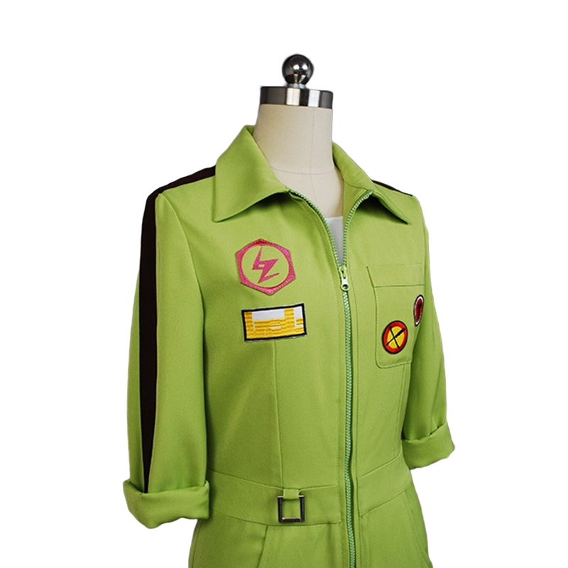Image 5 - Super DanganRonpa Cosplay Kazuichi Costume Kazuichi Souda Full Set Uniform Jumpsuit With Hat Outfit Halloween Costume vest wig-in Movie & TV costumes from Novelty & Special Use