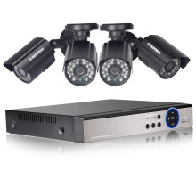 DEFEWAY HD 1080N P2P 4 Channel CCTV System Video Surveillance DVR KIT 4PCS Outdoor IR Night Vision 1.0 MP CCTV System