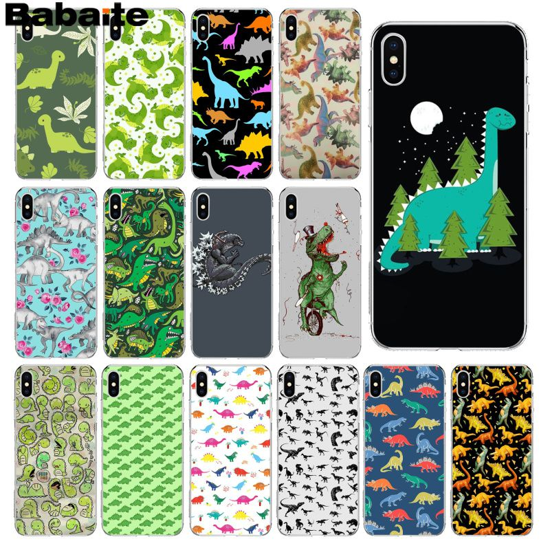 Babaite Animal <font><b>Dinosaur</b></font> Colorful Cute Phone Accessories <font><b>Case</b></font> for Apple <font><b>iPhone</b></font> 8 <font><b>7</b></font> 6 6S Plus X XS MAX 5 5S SE XR Mobile Cover image