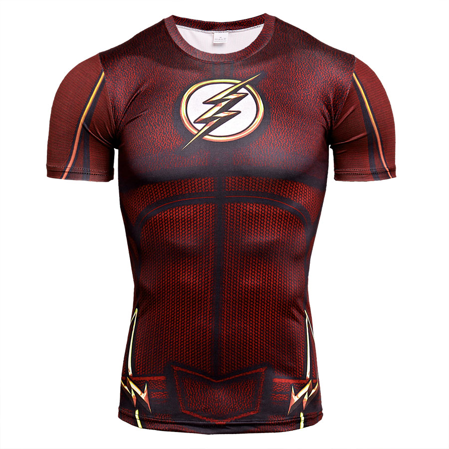 7617a268bba Cool Flash Black Panther 3D Short Sleeve T Shirt Men Quick Dry Cosplay  Costume Fitness Clothing Compression Shirt Tops Male MMA-in T-Shirts from  Men s ...
