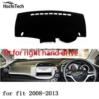 For Honda Fit Jazz Right Hand Drive Dashboard Mat Protective Pad Black Color Car Styling Interior