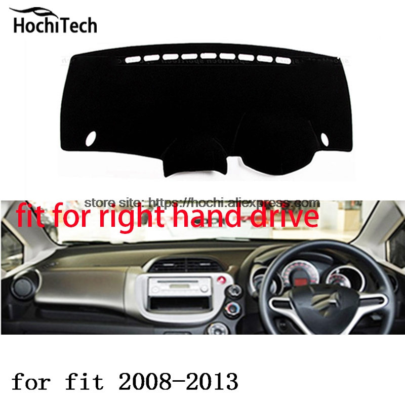 For honda fit jazz right hand drive dashboard mat Protective pad black color car-styling Interior Refit Sticker Mat products for toyota prius 2012 2013 right hand drive dashboard mat protective pad black car styling interior refit sticker mat products