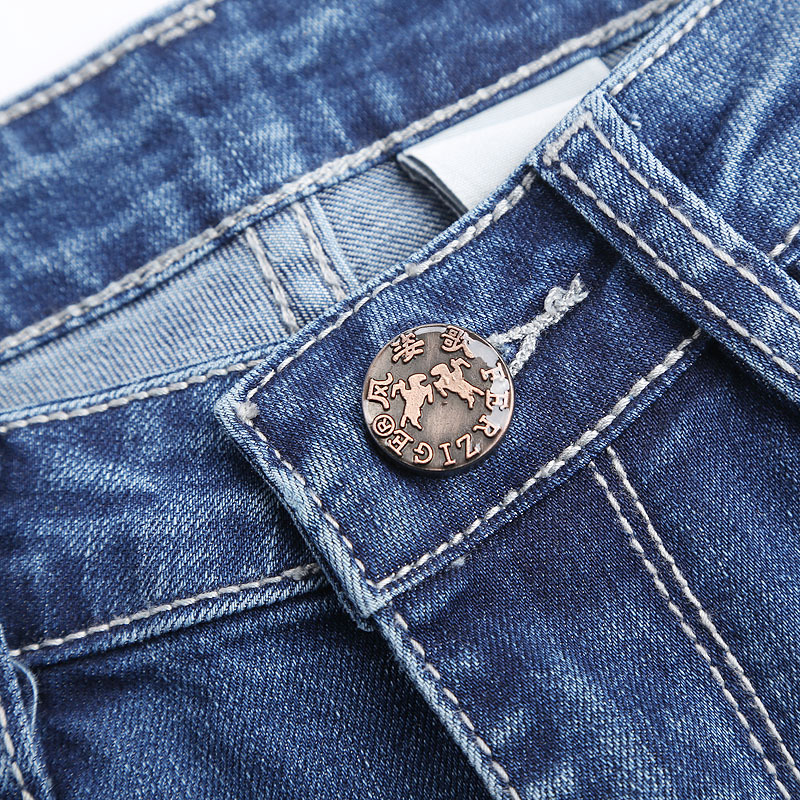 Vaqueros Slim Alta Flares Mujeres Pantalones Stretch Señoras Bottom Elasticidad Cintura Nuevo Bordado El 2018 Bell Azul Denim ERBpqn