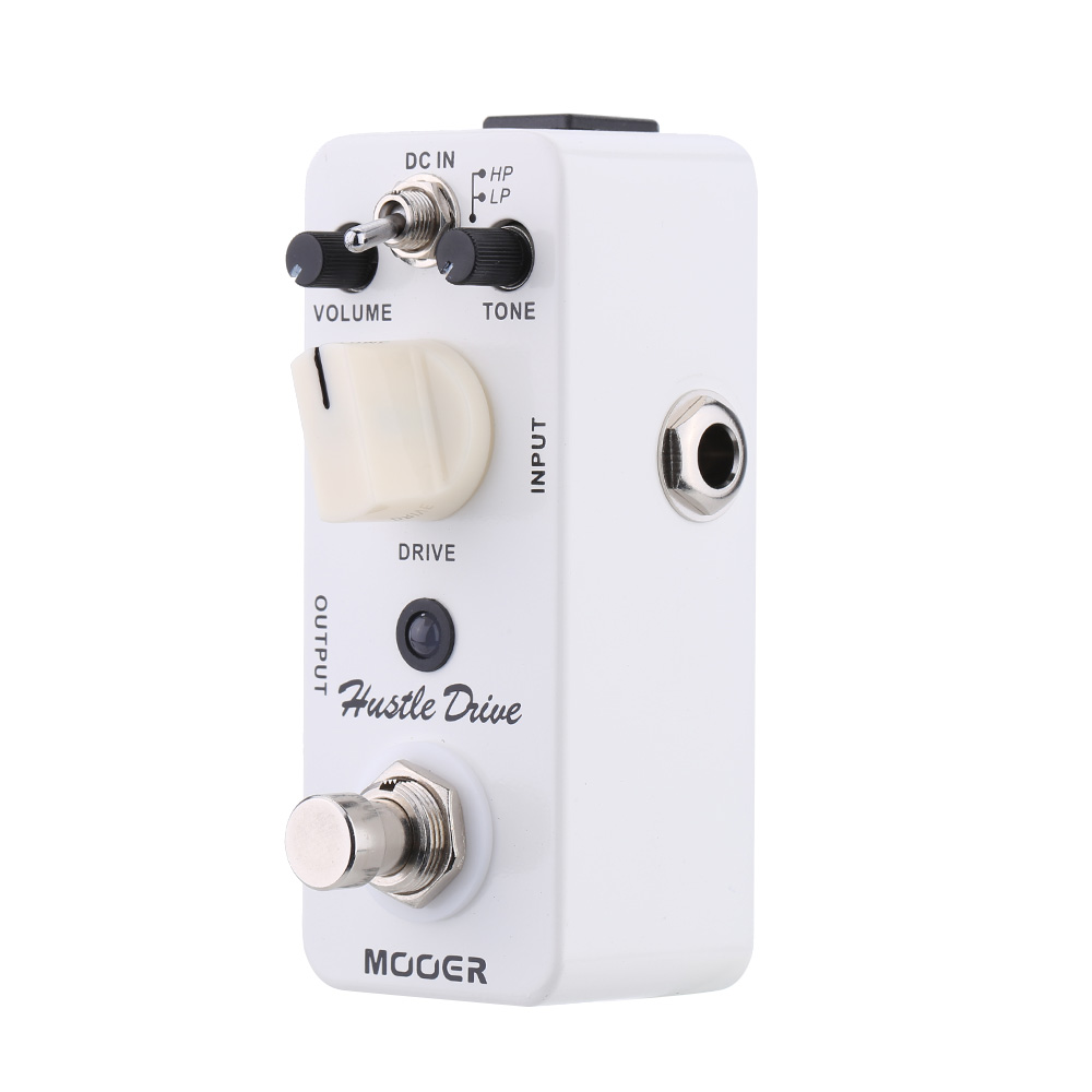 Mooer Full metal shell Effects Micro Hustle Drive Distortion Guitar Effect Pedal With 2 Working Modes True Bypass mooer full metal shell effects 5 band eq bass equalizer effect pedal micro graphic b true bypass