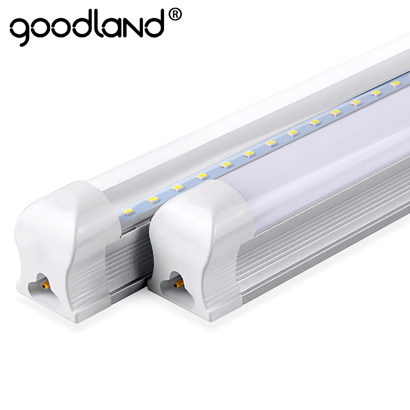 Goodland LED Bulb Tube T8 600mm 2ft LED Tube Light 10W LED Integrated Tube 220V 240V LED Lights Lamp Lighting Clear/Milky Cover led t8 integrated tube 10w 600mm 110v 220v 85 265v transparent clear cover milky cover free ship 2ft white warm white smd2835