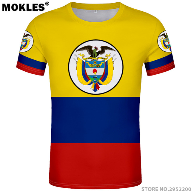 f135b19fd99 COLOMBIA t shirt diy free custom made name number col t-shirt nation flag co