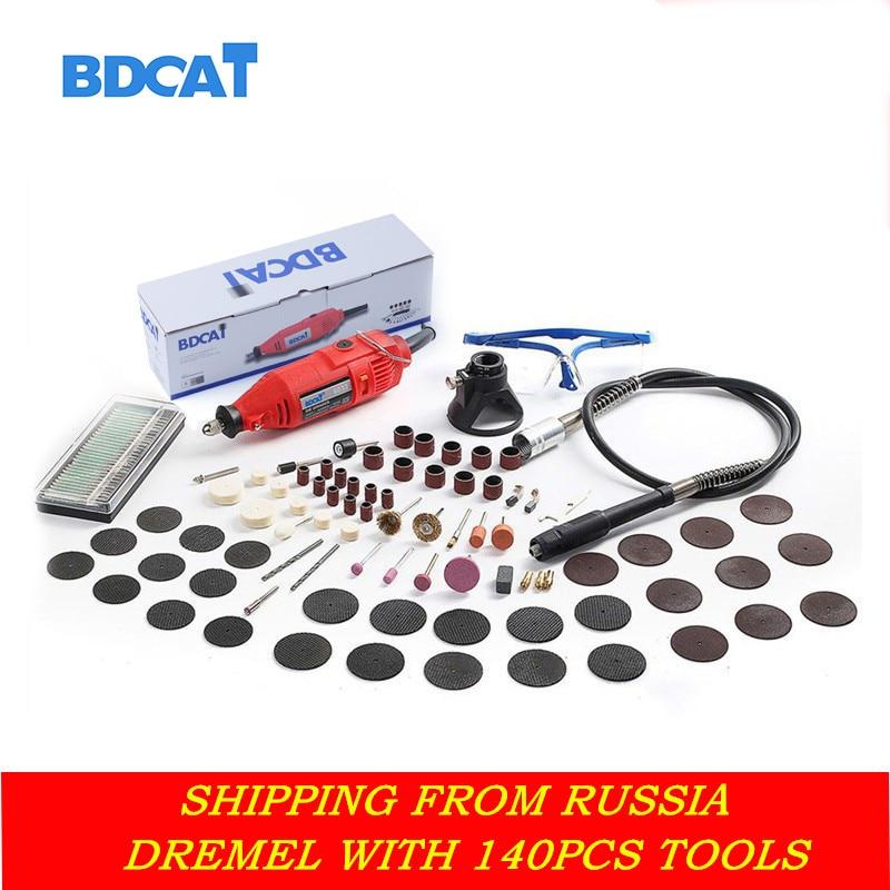 """""""BDCAT 180w"""" graveris Elektrinis """"Dremel"""" rotacinis įrankis, kurio kintamo greičio mini gręžimo šlifavimo įrankiai su 140 vnt elektrinių įrankių priedais"""