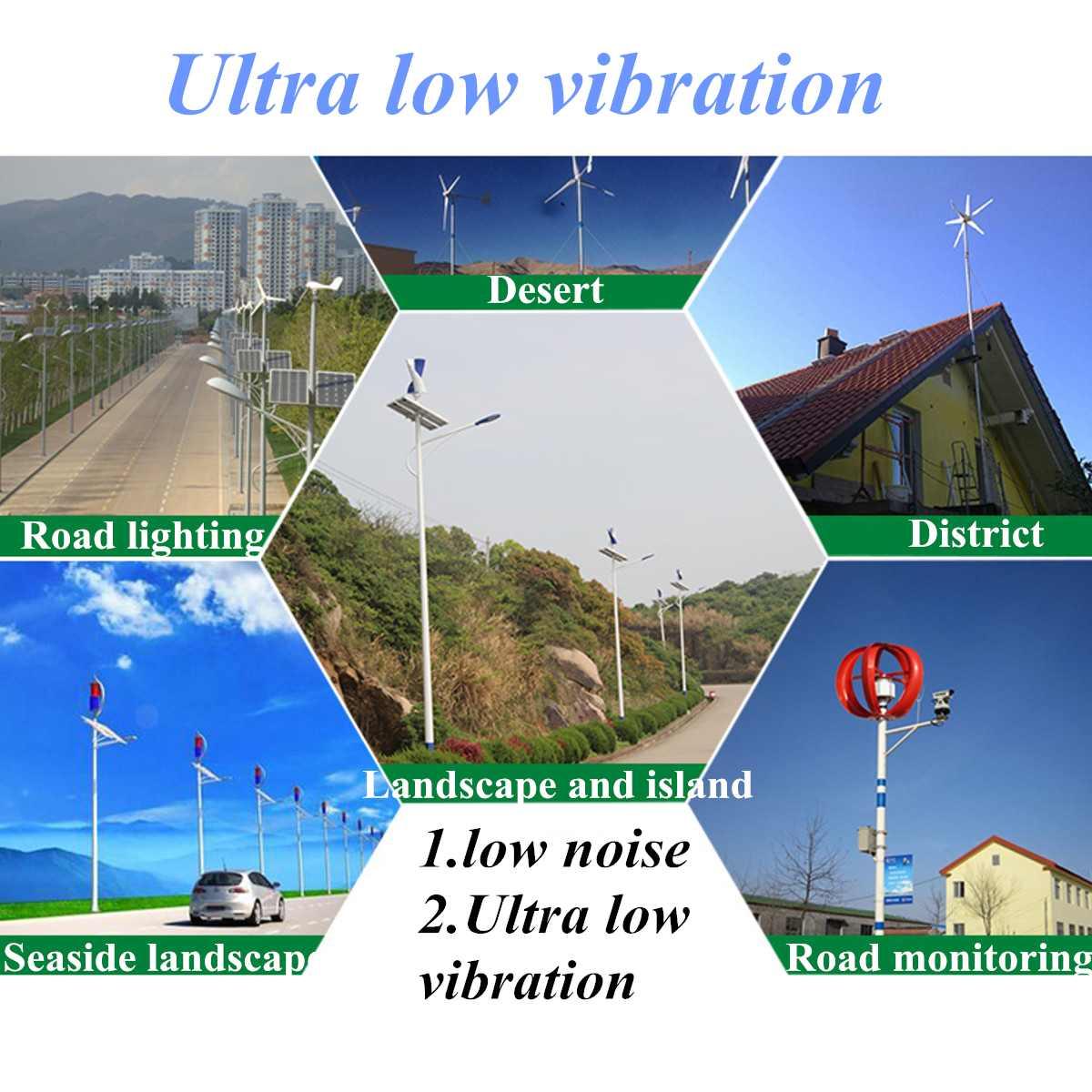 Contrôleur Vertical de Charge de générateur de vent 12V 300W triphasé moulin à vent Vertical Axial Kit de contrôleur de générateur d'énergie éolienne - 3