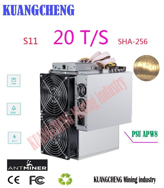 Nouveau BITMAIN AntMiner S11 20 T BCH BTC SHA-256 Mineur Mieux que S9 S9j S15 T15 Z9 Mini T9 + WhatsMiner M10 M3 M3X