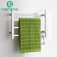 Nieneng Towel Warmer Chrome Bathroom Heating Vertical Electric Towel Rail Polished 304 Stainless Steel Bath Racks
