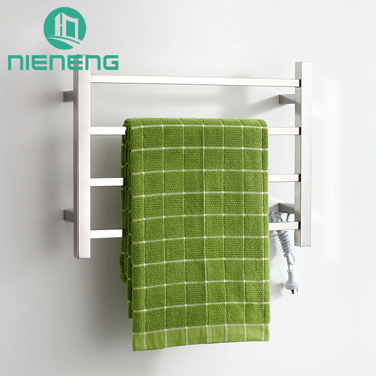 Nieneng Towel Warmer Chrome Bathroom Heating Vertical Electric Towel Rail Polished 304 Stainless Steel Bath Racks ICD60584 hotel decoration 304 stainless steel electric heating towel racks house furniture fitment appliance heating towel rack icd60048