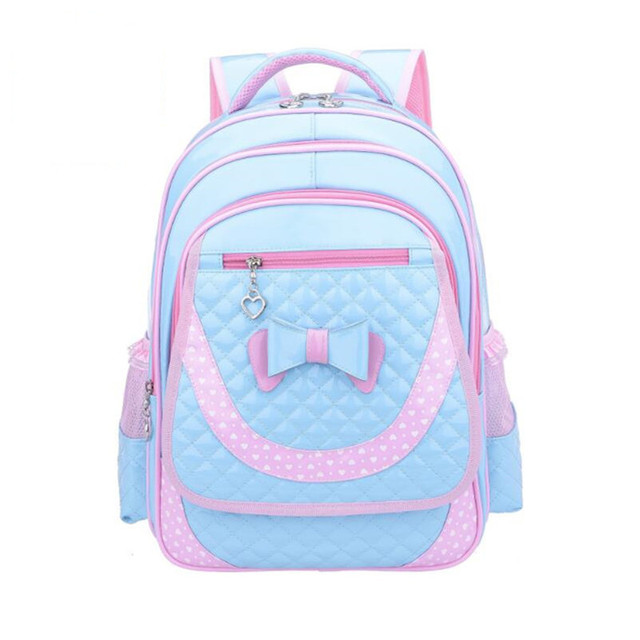 children backpacks for girls school bags kids cute bowknot pink blue PU  leather backpack girl schoolbag bagpack dropshipping 1b87c42cdc440