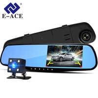 E-ACE A08 4.3 Inch Car Dvr Camera Full HD 1080P Automatic Camera Rear View Mirror With DVR And Camera Recorder Dashcam Car DVRs