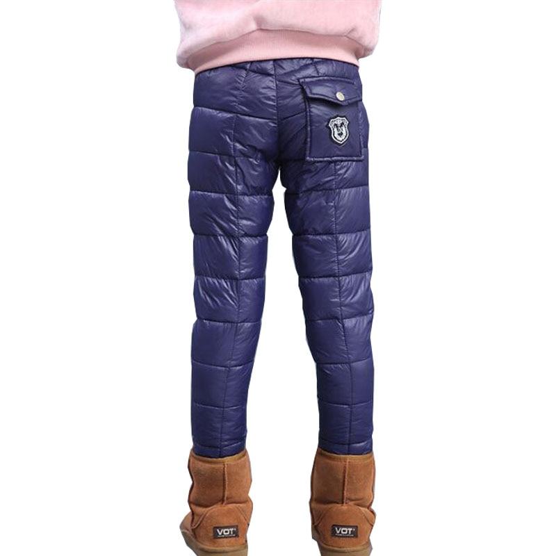 2017 New Kids Winter Pants Cotton Fashion Warm Trousers for Boys Girls Children Winter Casual Outwear Pants