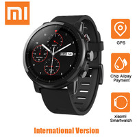Xiaomi Huami Amazfit Smartwatch 2 Running Watch GPS 5ATM Waterproof Bluetooth Smart Watch Anti Lost For IOS Android English Ver
