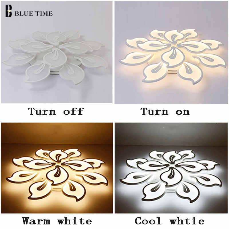 Акриловые современные потолочные светильники для гостиной, спальни, Белые Простые светодиодные плафоны, потолочные светильники для дома, светильники AC85-260V