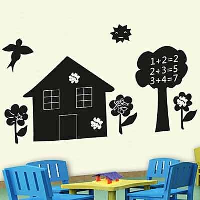 house and yard film top grade creative chalkboard wall sticker vinyl