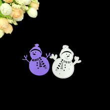 Julyarts Scrapbooking Cutting Dies Metal Christmas Winter Snowman for DIY Papercraft Project Scrapbook Paper Album Greeting Card