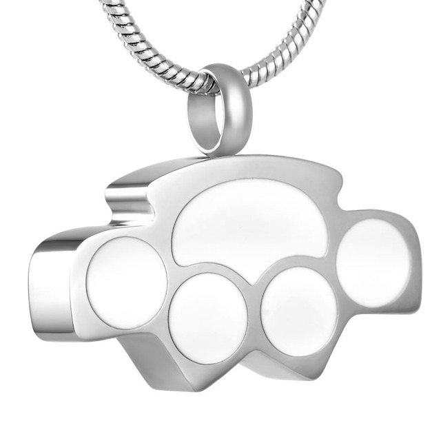 Laconic Style Paw Memorial Necklace