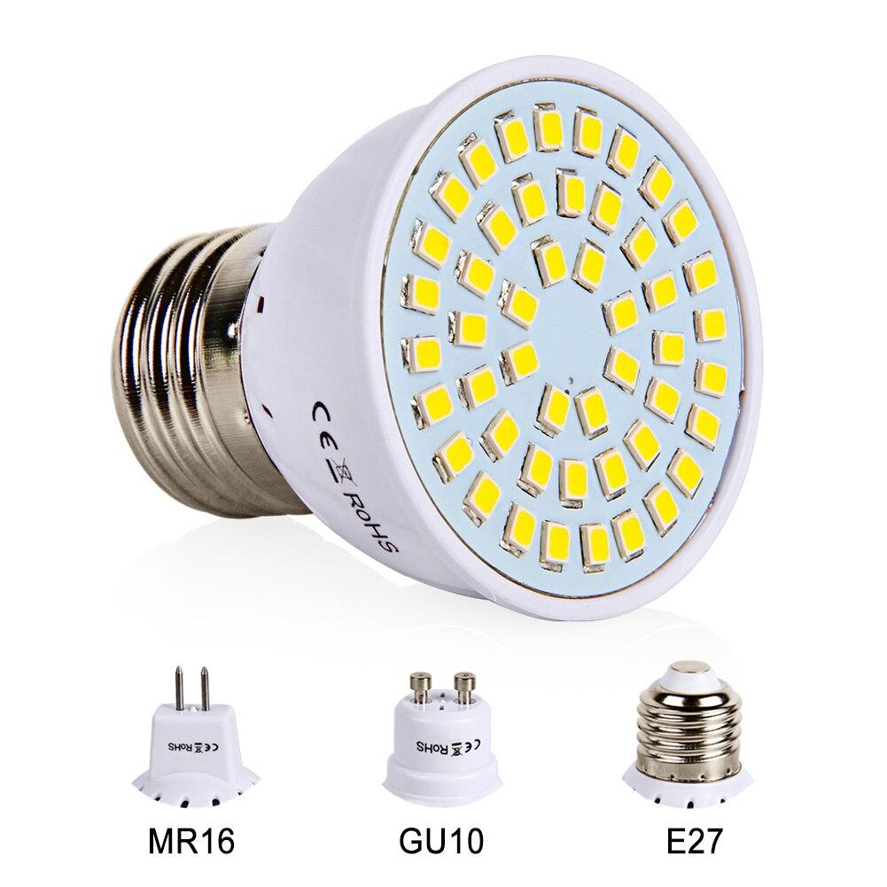 Goodland E27 LED Bulb 220V 240V MR16 GU10 LED Lamp LED Spotlight Bulb Lampada 48 60 80 LEDs SMD 2835 For Indoor Home Spot Light