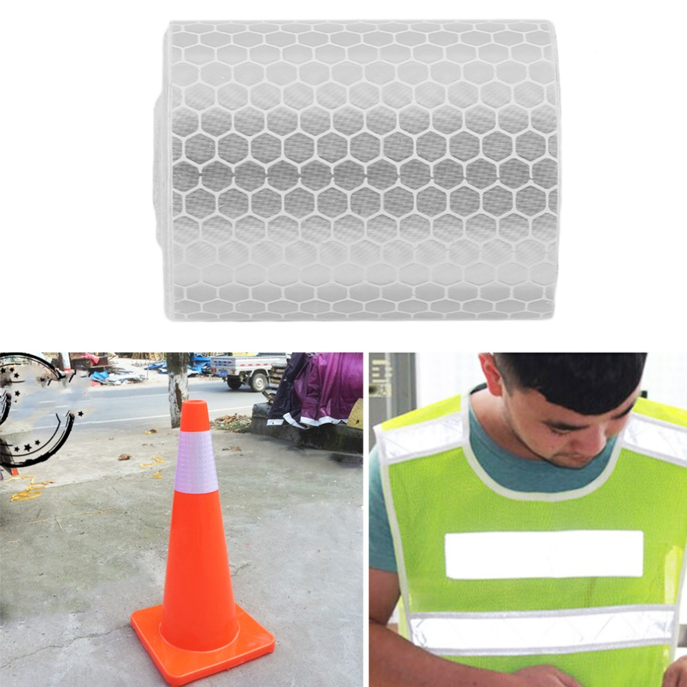 5cmx3m  Reflective Safety Warning Conspicuity Tape Film Stick  Car Truck Motorcycle Cycling Reflective Tape new 10pcs white reflective safety security warning conspicuity tape film sticker reflective film hot sale