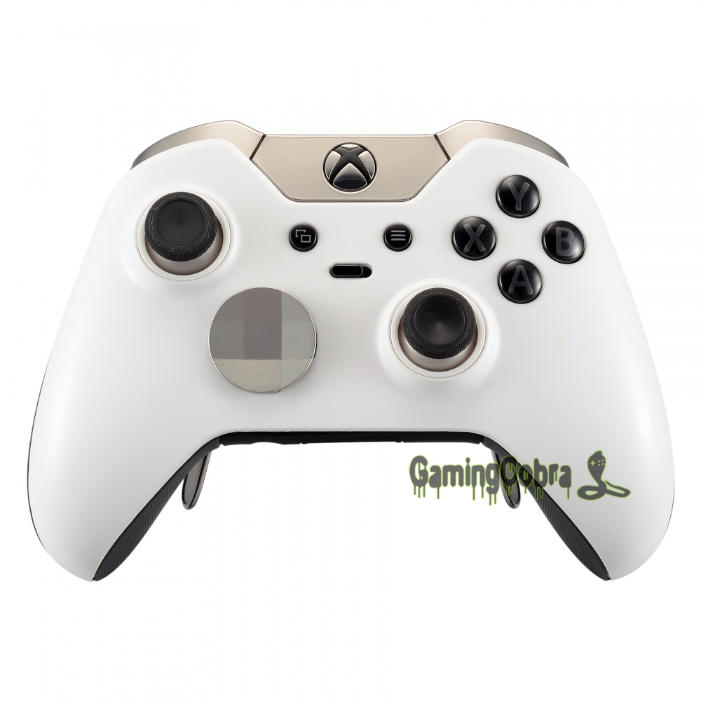 Soft Touch Solid White Custom Top Housing Shell For Xbox One Elite Controller - Model 1698