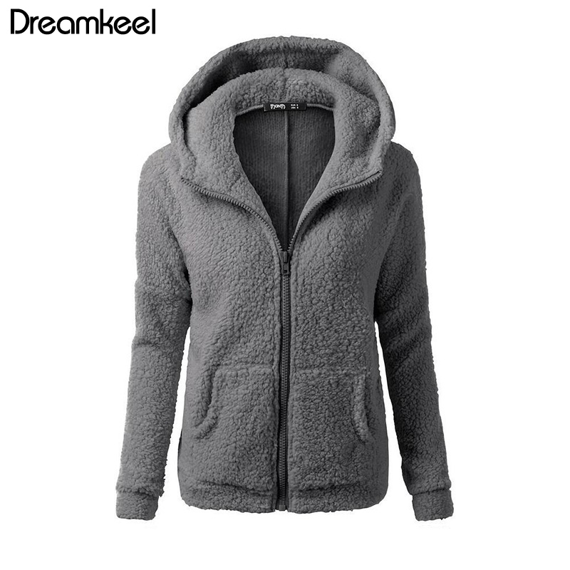 HTB1tr6TQCzqK1RjSZFHq6z3CpXa7 Solid Color Coat Women Thicken Soft Fleece Fashion Casual Outwear Coat Winter Autumn Warm Jacket Hooded Zipper Overcoat Female Y