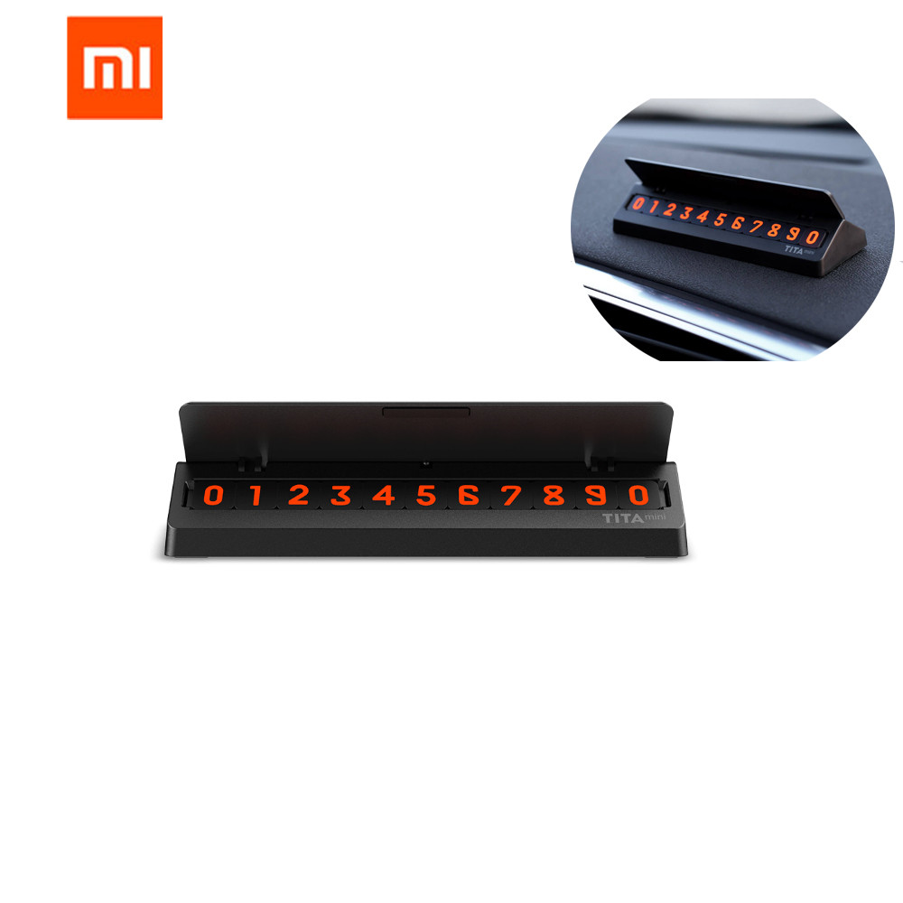 Original Xiaomi Mijia Bcase TITA Flip Type Car Temperary Parking Phone Number Card Plate Mini Car Decoration For Xiaomi Mi Home