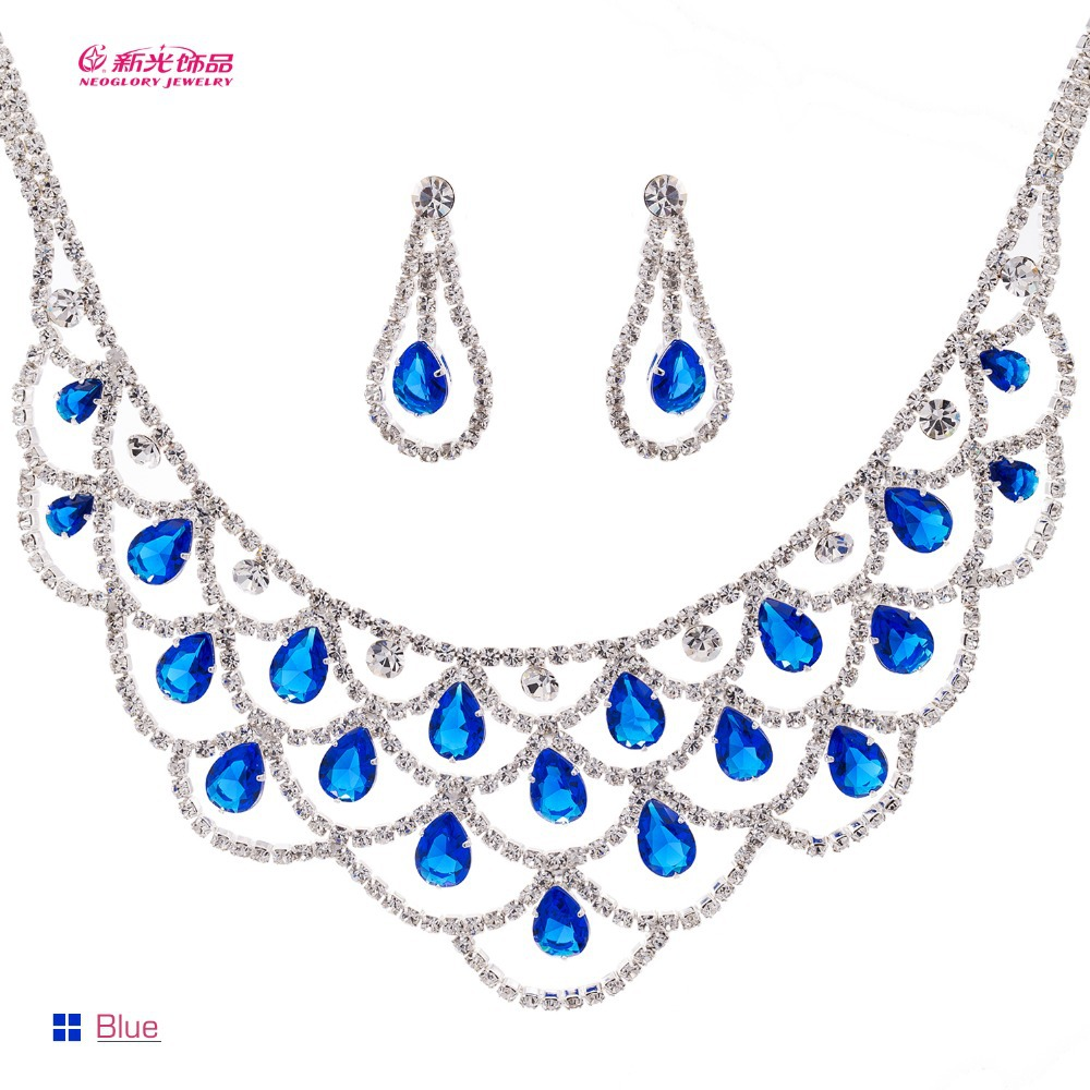 Neoglor Austria Crystals Drop Zirconia Wedding Jewelry Sets Necklace Earring Set for Women Fashion Jewelry 2015 Brand 338101Neoglor Austria Crystals Drop Zirconia Wedding Jewelry Sets Necklace Earring Set for Women Fashion Jewelry 2015 Brand 338101