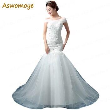 2018 New Fashion Mermaid Wedding Dress Sleeveless Sexy Beaded Lace Wedding Dresses Sweep Train Custom Made vestidos de noiva Wedding Dresses